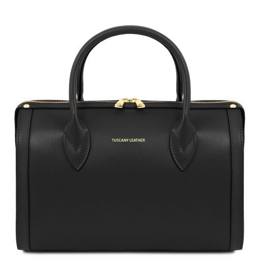 Elena Smooth Leather Boston Bag_7