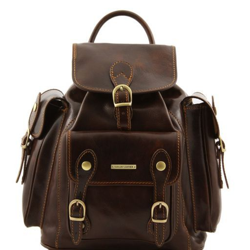 Pechino Vegetable Tanned Leather Backpack_9