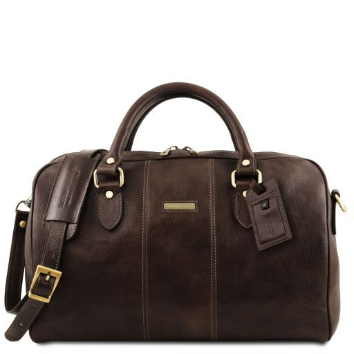 Lisbona - Travel leather duffle bag - Small size_18