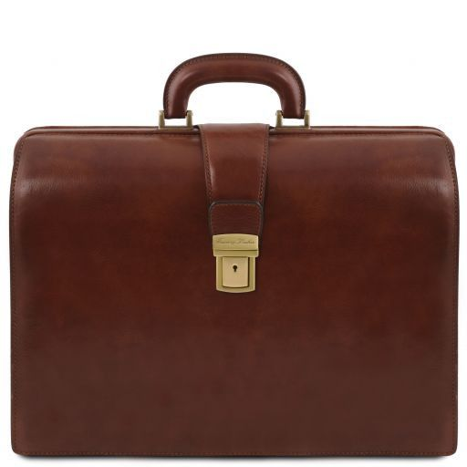 Canova Vegetable Tanned Leather Briefcase 3 compartments_11