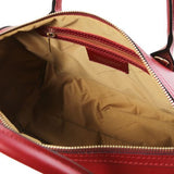 Elena Smooth Leather Boston Bag_5