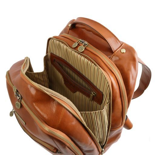 Phuket Vegetable Tanned Leather Laptop Backpack_5