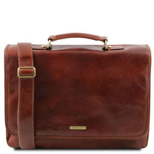 Mantova Vegetable Tanned Leather SMART Briefcase_1