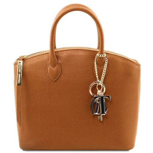 TL KeyLuck Saffiano Leather Top Handle Bag (S)_8