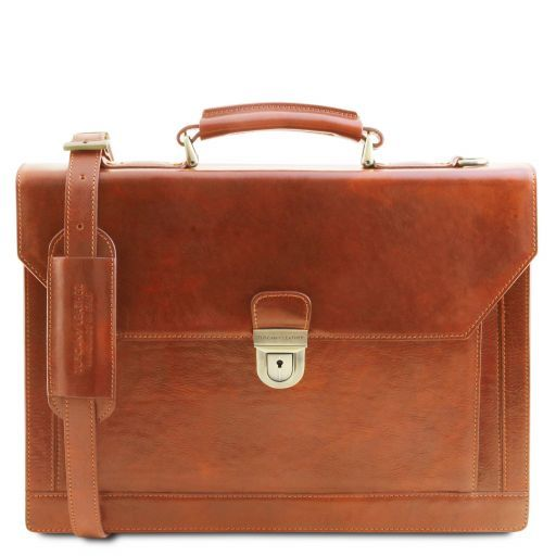 Cremona Vegetable Tanned Leather Briefcase_9