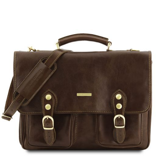 Modena Vegetable Tanned Leather Briefcase_9