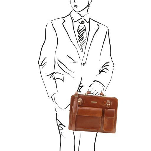 Venezia Vegetable Tanned Leather Briefcase_14