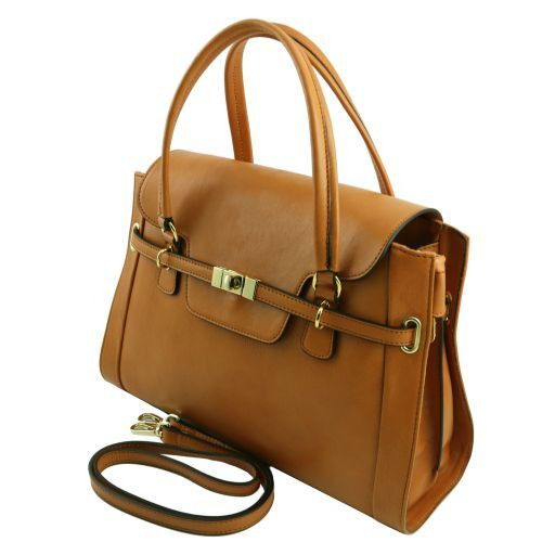 NeoClassic Full Grain Leather Satchel with twist lock_3