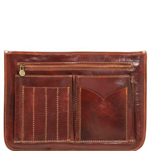 Capri Vegetable Tanned Leather Messenger Bag_4