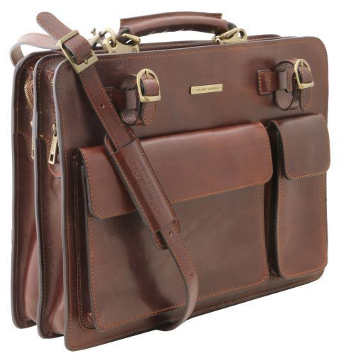 Venezia Vegetable Tanned Leather Briefcase_3