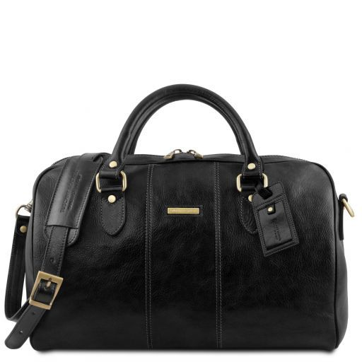 Lisbona - Travel leather duffle bag - Small size_14