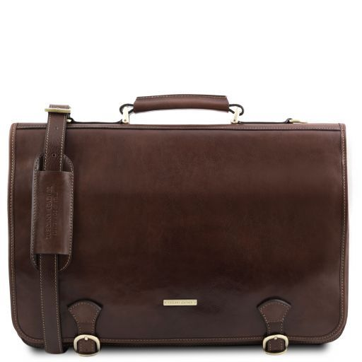 Ancona Vegetable Tanned Leather Messenger Bag_11