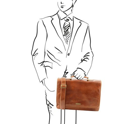 Mantova Vegetable Tanned Leather SMART Briefcase_12