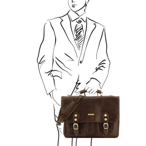 Modena Vegetable Tanned Leather Briefcase_10