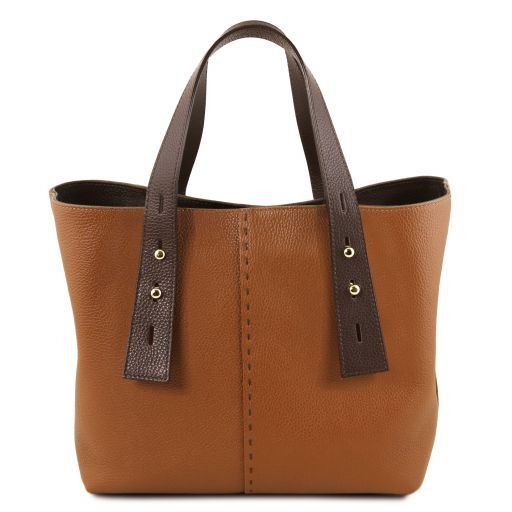 TL Hammered Leather Shopping Tote_16