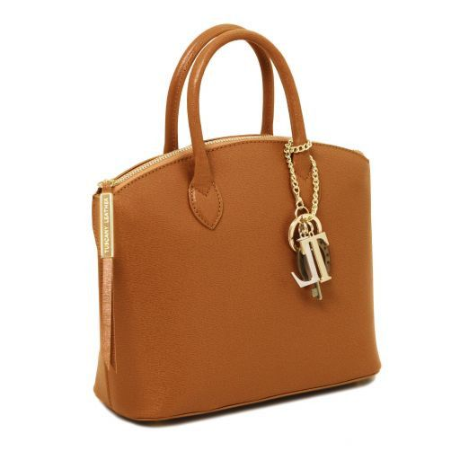 TL KeyLuck Saffiano Leather Top Handle Bag (S)_9