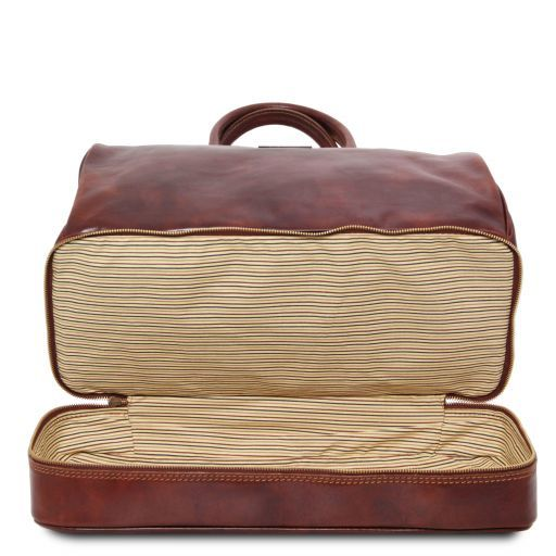 Barcellona - Double-bottom Gladstone Leather Bag_4