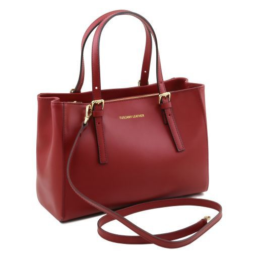 Aura Smooth Leather Satchel_1