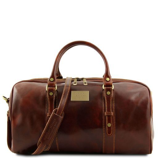 Francoforte - Exclusive Leather Weekender Travel Bag - Small size_6