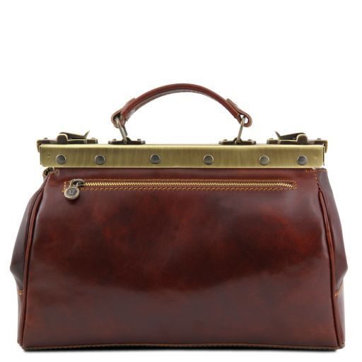 Monalisa Vegetable Tanned Leather Gladstone Doctor bag_3