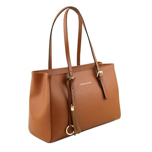 TL Saffiano Leather  Work Tote _23