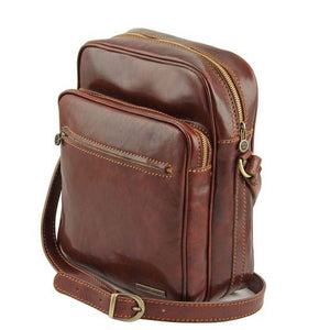Oscar Vegetable Tanned Leather Messenger Bag for Men_2
