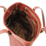 Annalisa Vegetable Tanned Leather Shopping Tote Bag_4