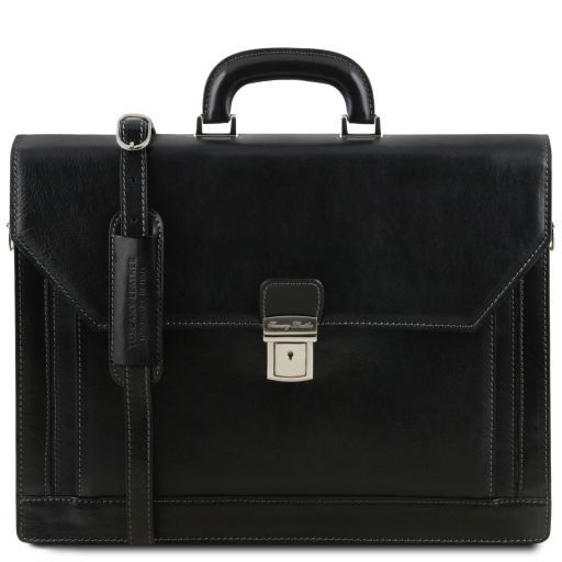 Roma Vegetable Tanned Leather Briefcase_11