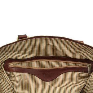 TL Voyager - Travel leather duffle bag - Small size_2