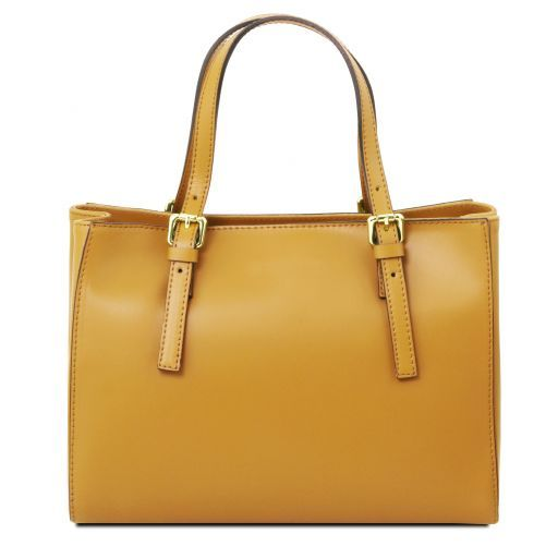 Aura Smooth Leather Satchel_5
