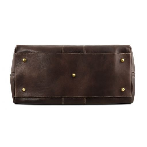 Lisbona - Travel leather duffle bag - Small size_21