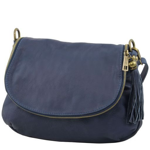 TL Soft Leather Shoulder Bag with Tassel_10