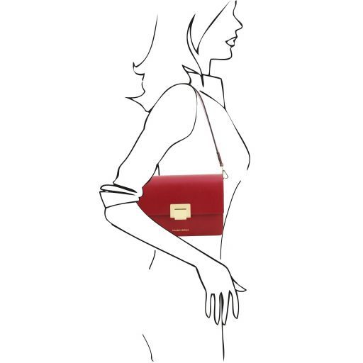 Adele Smooth Leather Clutch_7