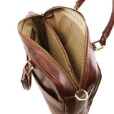 Pisa Vegetable Tanned Leather Laptop Briefcase_8