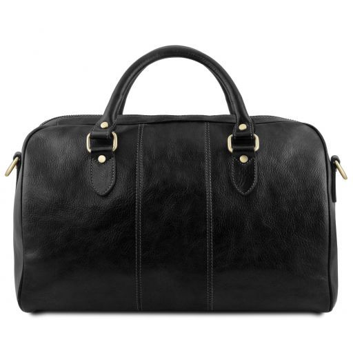 Lisbona - Travel leather duffle bag - Small size_16