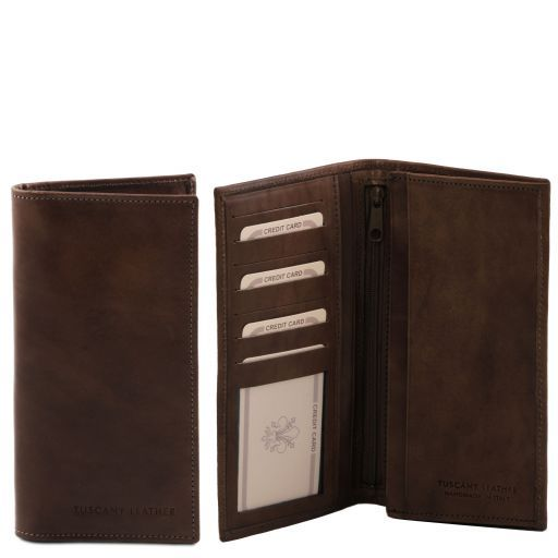 Full Grain Leather Vertical Bifold Wallet For Men_3