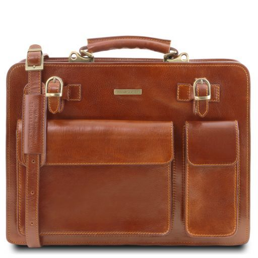 Venezia Vegetable Tanned Leather Briefcase_13