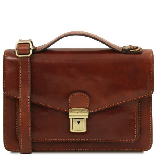 Eric Vegetable Tanned Leather Shoulder Bag For Men _1
