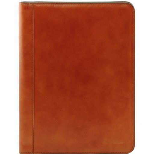 Lucio Vegetable Tanned Leather Leather Document Case with ring binder_8