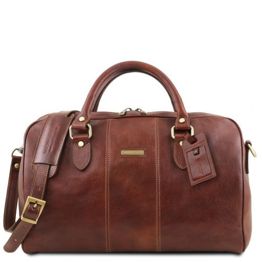Lisbona - Travel leather duffle bag - Small size_1