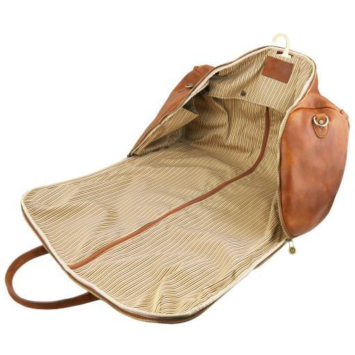Antigua - Travel leather duffle/Garment bag_6