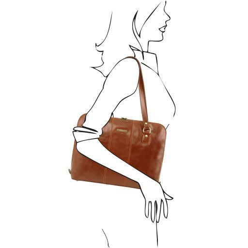 Ravenna Vegetable Tanned Leather Lady Business Bag_11