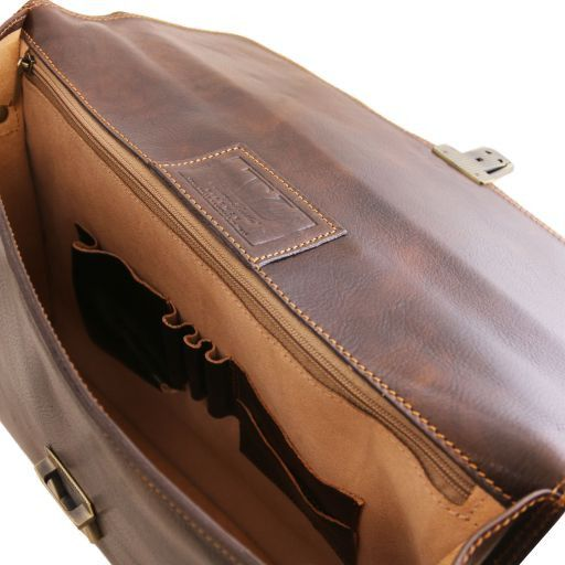 Amalfi Vegetable Tanned  Leather Briefcase_5