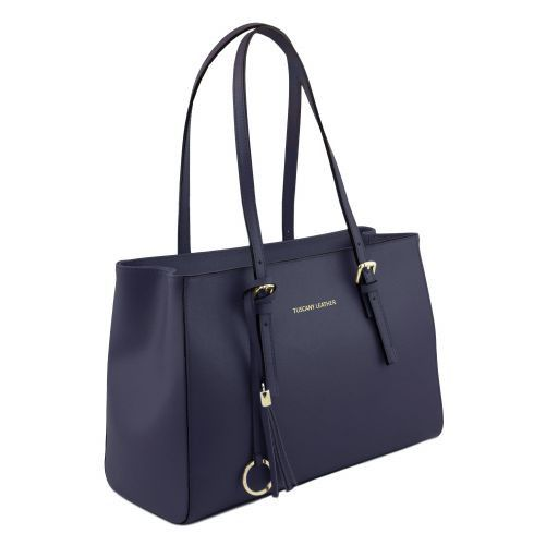 TL Saffiano Leather  Work Tote _12