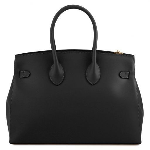 Elettra Smooth Leather Elagent Satchel_9