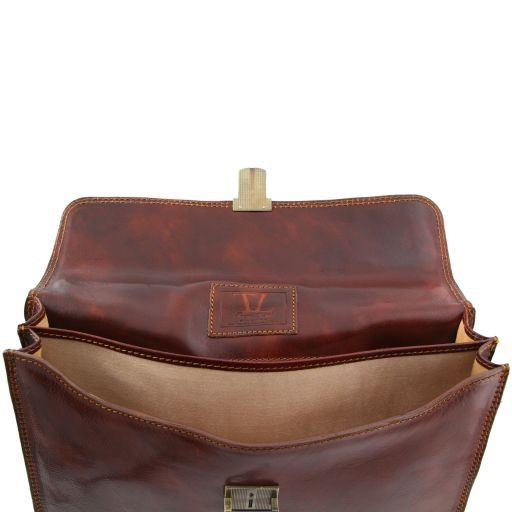 Parma Vegetable Tanned Leather Briefcase _4