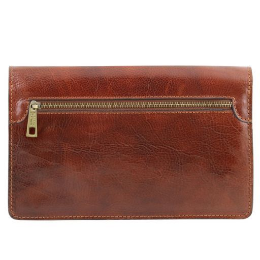 Arthur Vegetable Tanned Leather Men Clutchs Organizers Wrist Bag_4