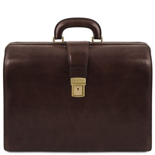 Canova Vegetable Tanned Leather Briefcase 3 compartments_13