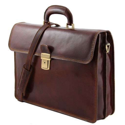 Parma Vegetable Tanned Leather Briefcase _2