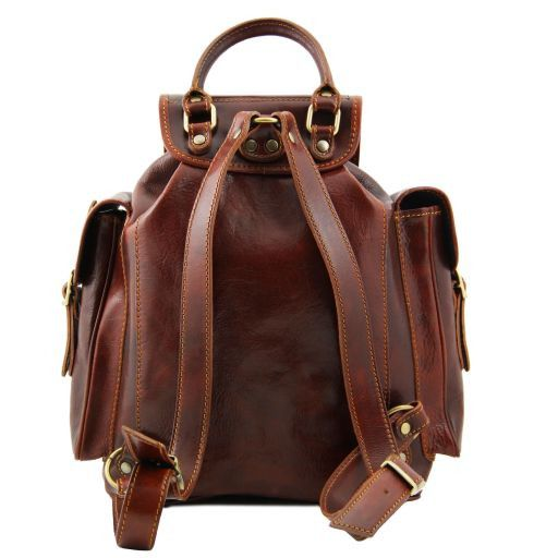 Pechino Vegetable Tanned Leather Backpack_2